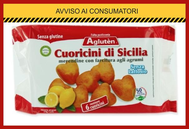 """Ritirate merendine per celiaci """"Cuoricini di Sicilia"""" per la presenza di muffe. Il richiamo riguarda un solo lotto"""