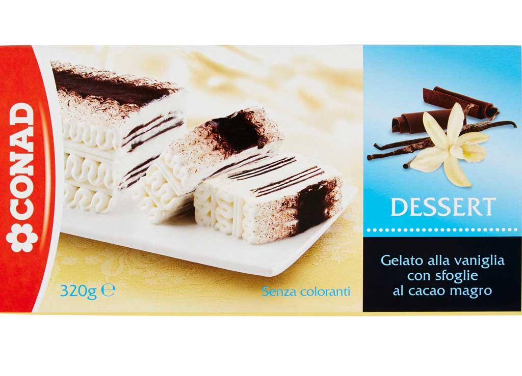 Glutine nel dessert gelato alla vaniglia senza glutine, Conad richiama il prodotto