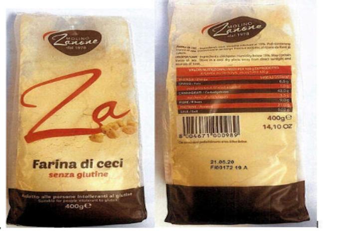 Farina di ceci senza glutine ritirata dal Ministero della Salute per contaminazione da piante infestanti