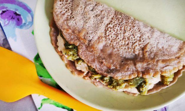 Gallette di grano saraceno ai broccoli
