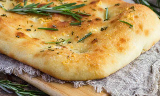 Focaccia al rosmarino senza glutine veloce