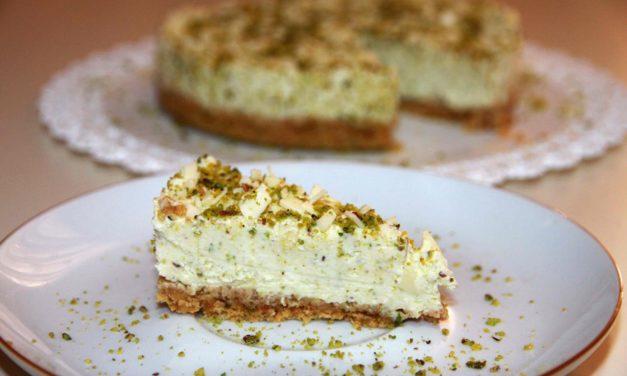 Cheesecake al pistacchio senza glutine