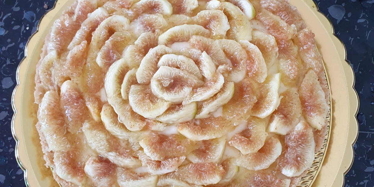 Torta fredda crema e fichi senza glutine