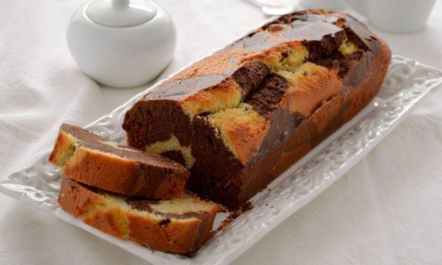 Plumcake variegato al cioccolato senza glutine